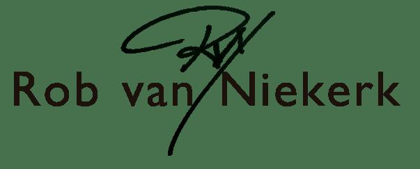 Rob van Niekerk plus paraaf