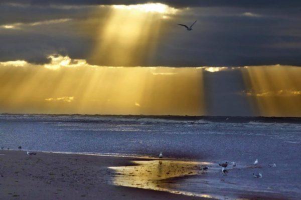 strand bij zonsondergang 2