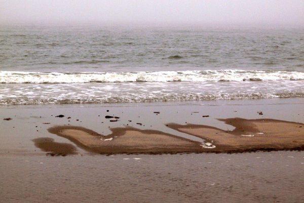 droog stukje strand